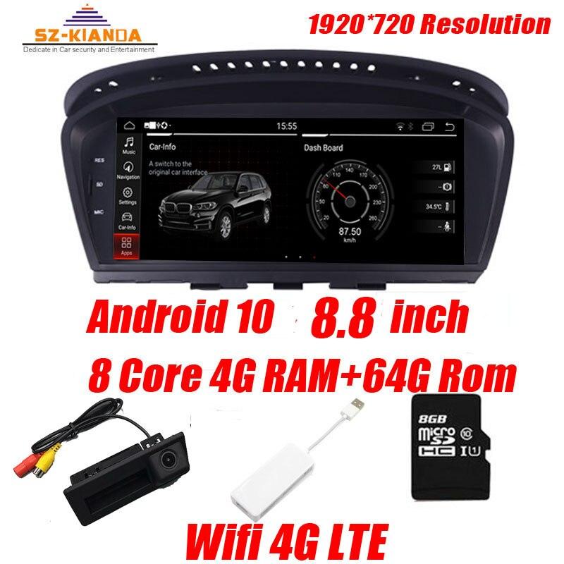 4G Ram+64G Rom Android 10 Car multimedia player for BMW 5 Series E60 E61 E63 E64 E90 E91 E92 CCC CIC iDrive Radio GPS Car Play